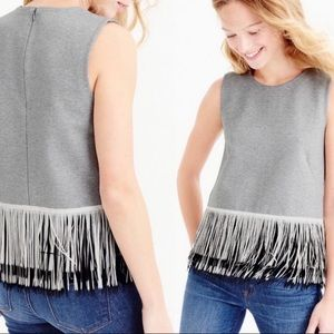 J. Crew Fringe Top, XL